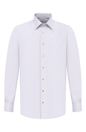 Мужская хлопковая сорочка ZILLI белого цвета, арт. MFU-1803-1118/0001   Фото 1