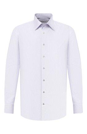 Мужская хлопковая сорочка ZILLI белого цвета, арт. MFU-1803-1216/0001   Фото 1
