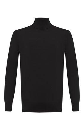 Мужской шерстяная водолазка LORO PIANA темно-серого цвета, арт. FAL3612 | Фото 1 (Материал внешний: Шерсть; Длина (для топов): Стандартные; Принт: Без принта; Мужское Кросс-КТ: Водолазка-одежда; Рукава: Длинные; Стили: Кэжуэл)