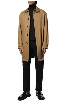 Мужской шерстяная водолазка LORO PIANA темно-серого цвета, арт. FAL3612 | Фото 2 (Материал внешний: Шерсть; Длина (для топов): Стандартные; Принт: Без принта; Мужское Кросс-КТ: Водолазка-одежда; Рукава: Длинные; Стили: Кэжуэл)