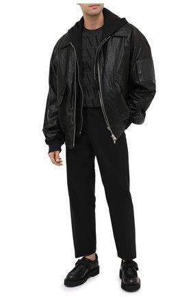 Мужской джемпер из шерсти и вискозы VALENTINO темно-серого цвета, арт. UV0KC10D6LT | Фото 2