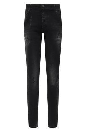 Мужские джинсы DON THE FULLER черного цвета, арт. DHW0/MILAN0 ALFA/DTF/PAY | Фото 1