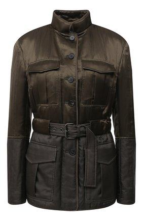Женская куртка из вискозы и шелка TOM FORD хаки цвета, арт. CS1105-FAX709 | Фото 1