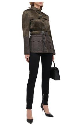 Женская куртка из вискозы и шелка TOM FORD хаки цвета, арт. CS1105-FAX709 | Фото 2