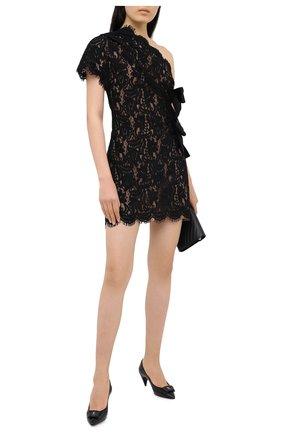 Женское платье SAINT LAURENT черного цвета, арт. 633359/Y4B06   Фото 2