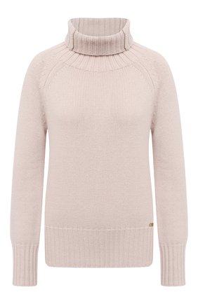 Женский свитер из шерсти и кашемира MANZONI24 бежевого цвета, арт. 20M563-X/38-46 | Фото 1