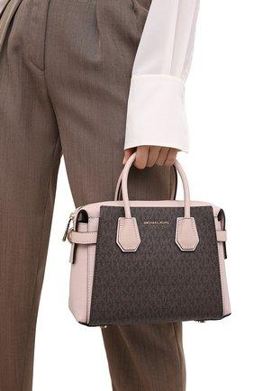 Женская сумка mercer MICHAEL MICHAEL KORS коричневого цвета, арт. 30S9GM9S1B   Фото 2