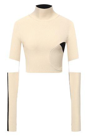 Женская пуловер из вискозы OFF-WHITE кремвого цвета, арт. 0WHF015F20KNI0016110 | Фото 1