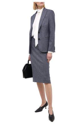 Женская юбка из шерсти и кашемира KITON синего цвета, арт. D19209K05T39   Фото 2