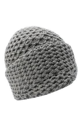 Женский кашемировая шапка INVERNI серого цвета, арт. 4232CM   Фото 1