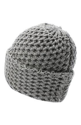Женский кашемировая шапка INVERNI серого цвета, арт. 4232CM   Фото 2