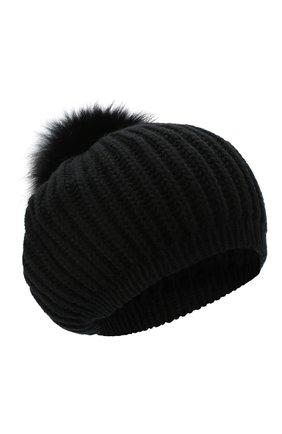 Женская кашемировая шапка INVERNI черного цвета, арт. 0250CM   Фото 1