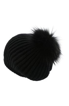 Женская кашемировая шапка INVERNI черного цвета, арт. 0250CM   Фото 2