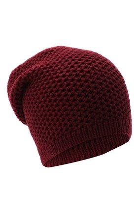 Женский кашемировая шапка INVERNI бордового цвета, арт. 0097CMG3 | Фото 1