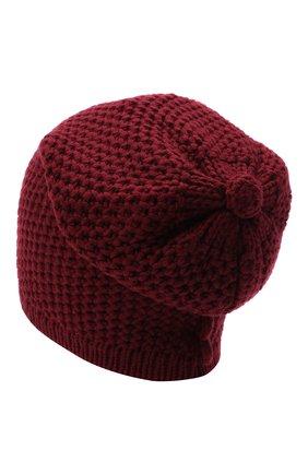 Женский кашемировая шапка INVERNI бордового цвета, арт. 0097CMG3 | Фото 2