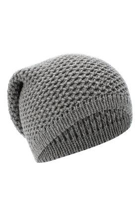 Женский кашемировая шапка INVERNI серого цвета, арт. 0097CMG3   Фото 1