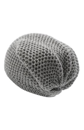 Женский кашемировая шапка INVERNI серого цвета, арт. 0097CMG3   Фото 2