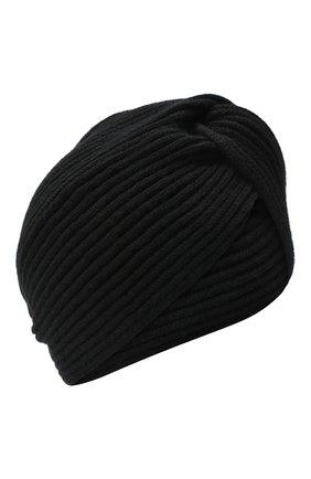 Женская кашемировый тюрбан INVERNI черного цвета, арт. 4880CM   Фото 1