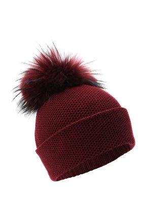 Женский кашемировая шапка INVERNI бордового цвета, арт. 5080CM | Фото 1