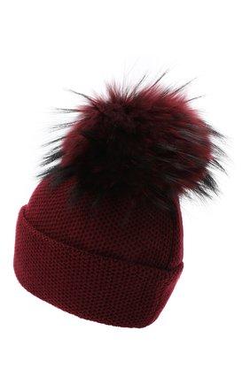 Женский кашемировая шапка INVERNI бордового цвета, арт. 5080CM | Фото 2