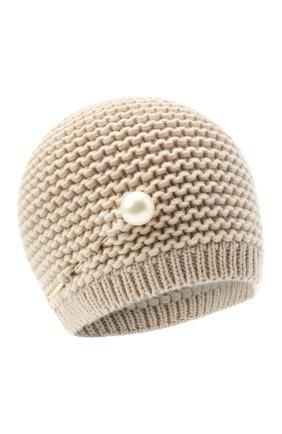 Женская кашемировая шапка INVERNI светло-бежевого цвета, арт. 5086CM   Фото 1