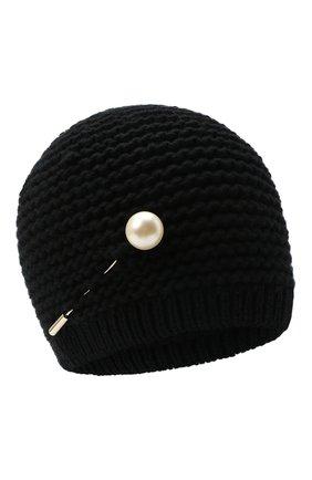 Женская кашемировая шапка INVERNI черного цвета, арт. 5086CM   Фото 1