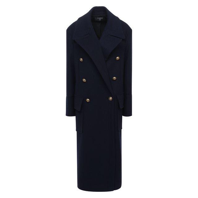 Шерстяное пальто Balmain