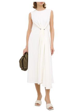 Женское платье из вискозы VICTORIA BECKHAM белого цвета, арт. 1320WDR001616A | Фото 2