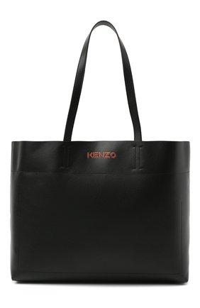 Женский сумка-шопер kenzo kadet KENZO черного цвета, арт. FA62SA703L37 | Фото 1