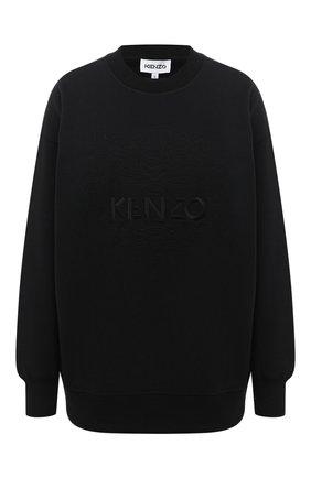 Женский хлопковый свитшот KENZO черного цвета, арт. FA62SW9214XH | Фото 1