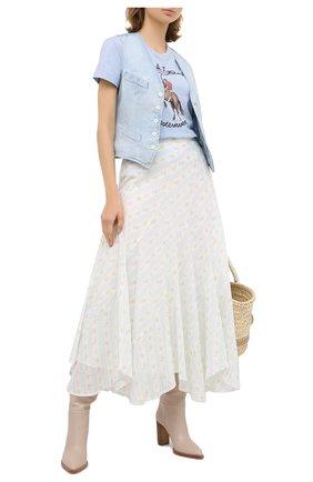 Женская хлопковая юбка POLO RALPH LAUREN кремвого цвета, арт. 211800631 | Фото 2