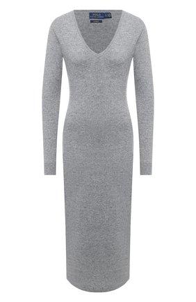Женское кашемировое платье POLO RALPH LAUREN серого цвета, арт. 211815310 | Фото 1