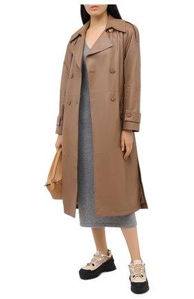 Женское кашемировое платье POLO RALPH LAUREN серого цвета, арт. 211815310 | Фото 2