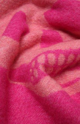 Женский шарф ALEXANDER MCQUEEN розового цвета, арт. 628294/3C78Q   Фото 2 (Материал: Текстиль, Шерсть, Синтетический материал)