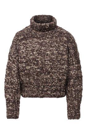Женский шерстяной свитер TWINS FLORENCE темно-коричневого цвета, арт. TWFAI20MAG0002B | Фото 1