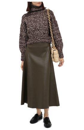 Женский шерстяной свитер TWINS FLORENCE темно-коричневого цвета, арт. TWFAI20MAG0002B | Фото 2