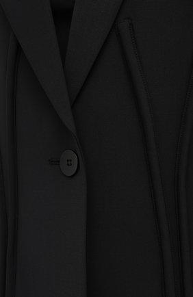 Женский жакет TIBI черного цвета, арт. P220TW8169 | Фото 5 (Материал внешний: Шерсть, Синтетический материал; Рукава: Длинные; Длина (для топов): Удлиненные; Стили: Классический; Случай: Формальный; 1-2-бортные: Однобортные; Женское Кросс-КТ: Жакет-одежда; Материал подклада: Купро)