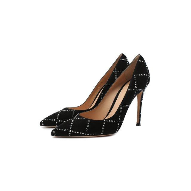 Замшевые туфли Crystal Gianvito Rossi