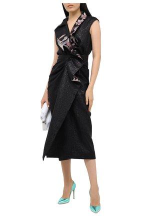 Женские кожаные туфли gianvito 105 GIANVITO ROSSI зеленого цвета, арт. G28470.15RIC.NPSACMA | Фото 2