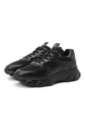 Женские комбинированные кроссовки h565 HOGAN черного цвета, арт. HXW5400DG600NV | Фото 1