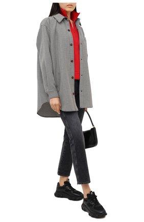 Женские комбинированные кроссовки h565 HOGAN черного цвета, арт. HXW5400DG600NV | Фото 2
