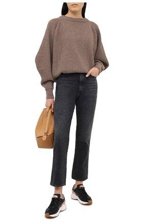 Женские кожаные кроссовки TOD'S черного цвета, арт. XXW54C0DP700V7   Фото 2