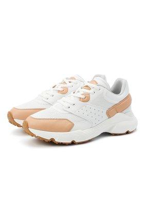 Женские кожаные кроссовки TOD'S белого цвета, арт. XXW54C0DP70N0P | Фото 1