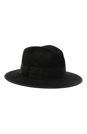 Женская фетровая шляпа GUCCI черного цвета, арт. 628551/4HK71 | Фото 1