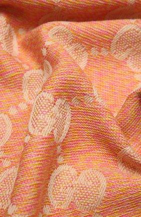 Женский шерстяной шарф GUCCI розового цвета, арт. 627011/3G200   Фото 2