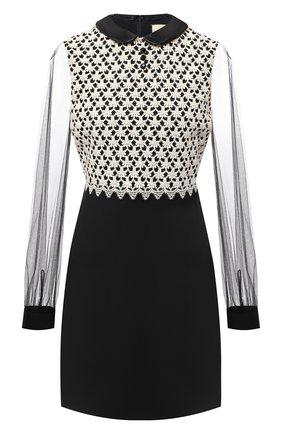 Женское платье из шерсти и шелка GUCCI черного цвета, арт. 626852/Z8AKG   Фото 1