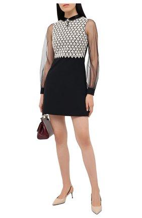 Женское платье из шерсти и шелка GUCCI черного цвета, арт. 626852/Z8AKG   Фото 2