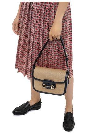 Женская сумка 1955 GUCCI бежевого цвета, арт. 602204/H58AK | Фото 2