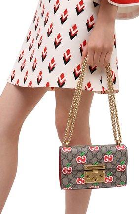 Женская сумка padlock GUCCI красного цвета, арт. 409487/2EVEG | Фото 2