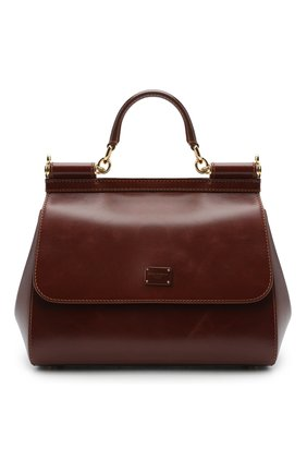 Женская сумка sicily DOLCE & GABBANA коричневого цвета, арт. BB6002/AW554 | Фото 1